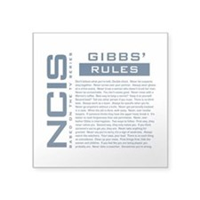"NCIS Gibbs' Rules Square Sticker 3"" x 3"""