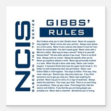 "NCIS Gibbs' Rules Square Car Magnet 3"" x 3"""