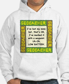 Green Geocacher Lost Mind Hoodie