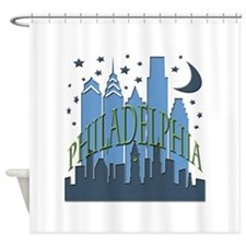 Philly Skyline cool Shower Curtain