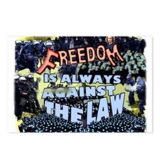 Freedom is Always Against the Law Postcards (Packa