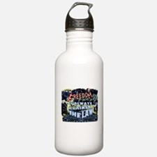 Freedom is Always Against the Law Water Bottle