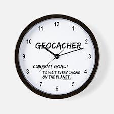Geocacher Goals Wall Clock