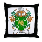 Conville Coat of Arms Throw Pillow