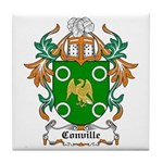 Conville Coat of Arms Tile Coaster