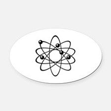 Physics Oval Car Magnet
