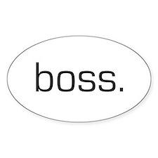Boss Oval Bumper Stickers