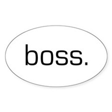 Boss Oval Decal