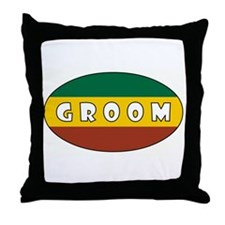 RASTA GROOM Throw Pillow