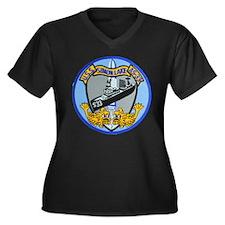 USS SIMON LAKE Women's Plus Size V-Neck Dark T-Shi