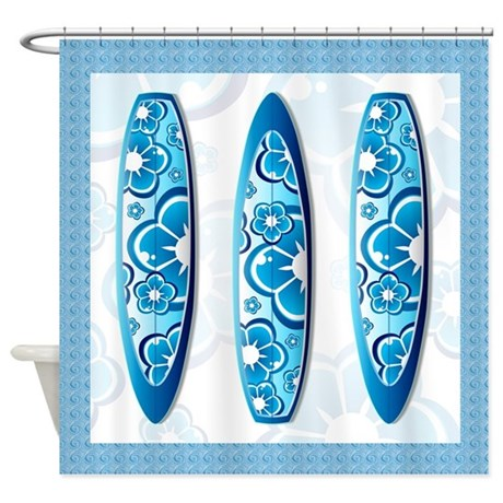 surfboard shower curtains fabric curtain liner