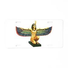 Winged Maat Aluminum License Plate