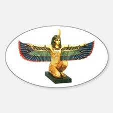 Winged Maat Sticker (Oval)