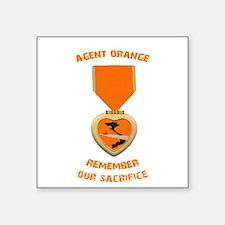 "Agent Orange Square Sticker 3"" x 3"""