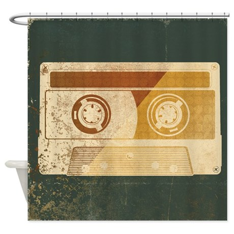 Retro Mix Tape Shower Curtain