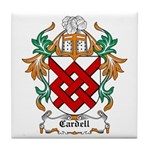 Cardell Coat of Arms Tile Coaster
