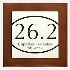 26.2...Cupcakes I've eaten this week. Framed Tile