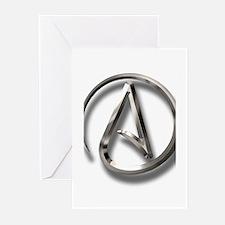 International Atheism Symbol Greeting Cards (Pk of
