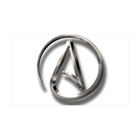 International Atheism Symbol 35x21 Wall Decal