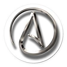 International Atheism Symbol Round Car Magnet