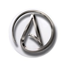 "International Atheism Symbol 3.5"" Button (100 pack"