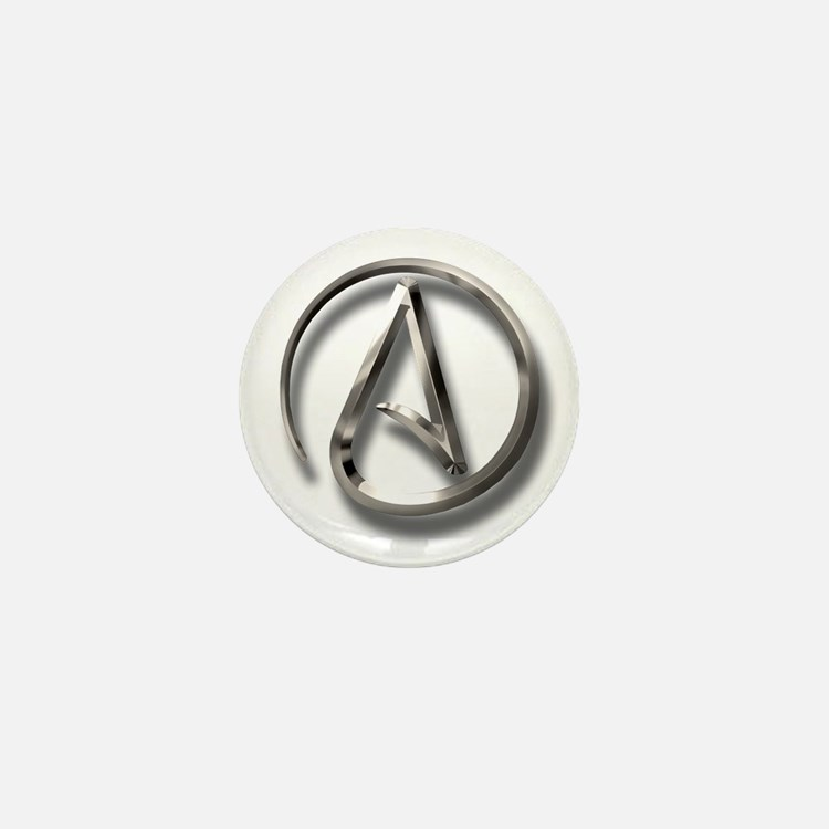 International Atheism Symbol Mini Button