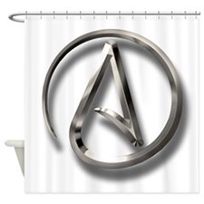 International Atheism Symbol Shower Curtain