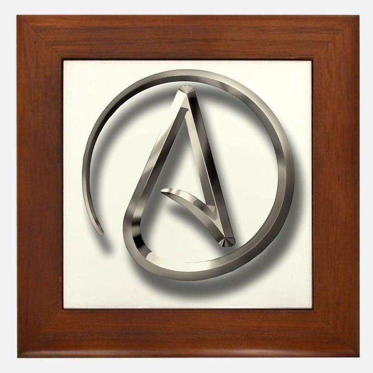 International Atheism Symbol Framed Tile