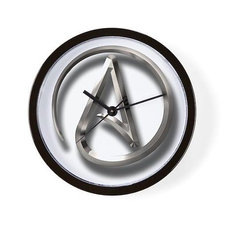 International Atheism Symbol Wall Clock