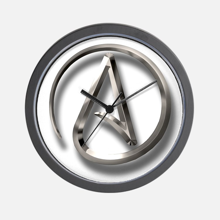 International Atheism Symbol Wall Clock