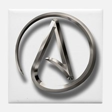 International Atheism Symbol Tile Coaster