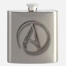 International Atheism Symbol Flask