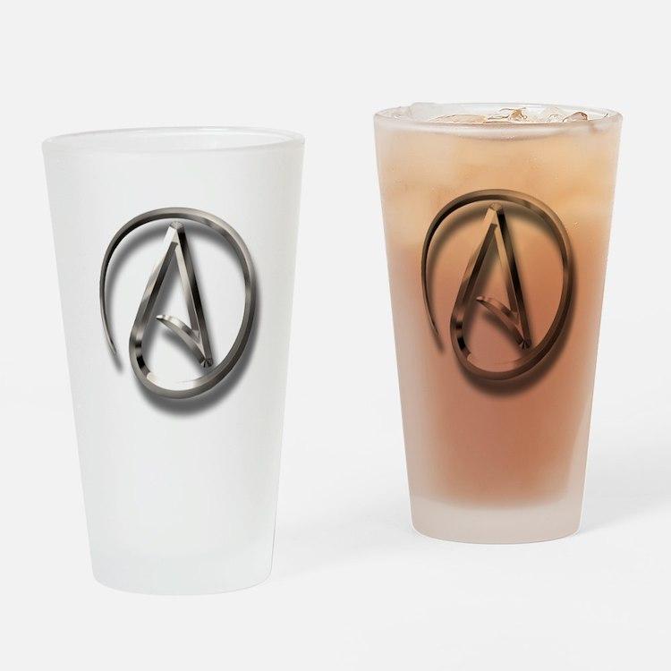 International Atheism Symbol Drinking Glass