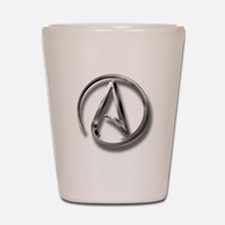 International Atheism Symbol Shot Glass