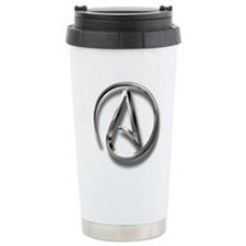 International Atheism Symbol Travel Mug