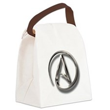 International Atheism Symbol Canvas Lunch Bag