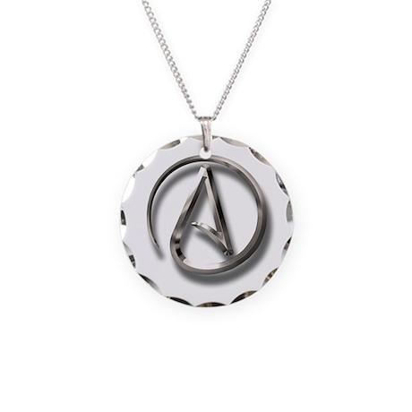 International Atheism Symbol Necklace Circle Charm