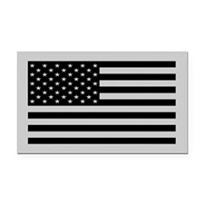 Subdued US Flag Tactical Rectangle Car Magnet