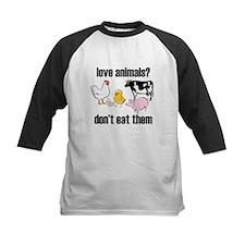 love animals don't eat them copy Baseball Jersey