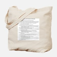 21 Rules & Truisms of Fencing Tote Bag
