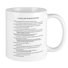 21 Rules & Truisms of Fencing Mug