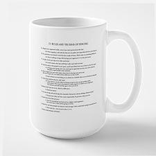 21 Rules & Truisms of Fencing Large Mug