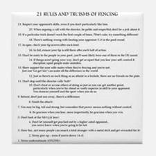 21 Rules & Truisms of Fencing Tile Coaster