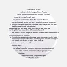 """21 Rules & Truisms of Fencing 3.5"""" Button"""