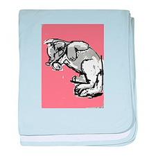 Soft Kitty baby blanket