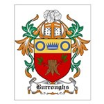 Burroughs Coat of Arms Small Poster