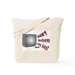 Television Lies anti-TV Tote Bag
