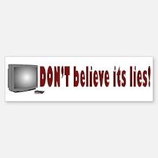 Television Lies anti-TV Bumper Bumper Bumper Sticker