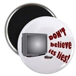 Television Lies anti-TV Magnet
