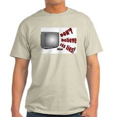 Television Lies anti-TV Ash Grey T-Shirt